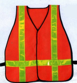 High Visibility Orange Oxford Safety Vest