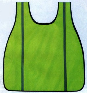 High Visibility Neon Green Oxford Safety Vest